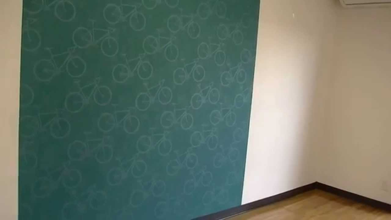 インテリアリフォーム 川越市 アクセントウォール 自転車と星空