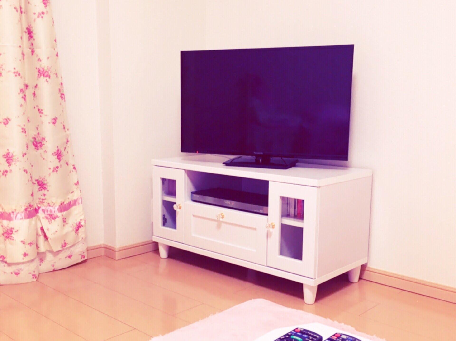 一人暮らしのお部屋紹介♡テレビ台