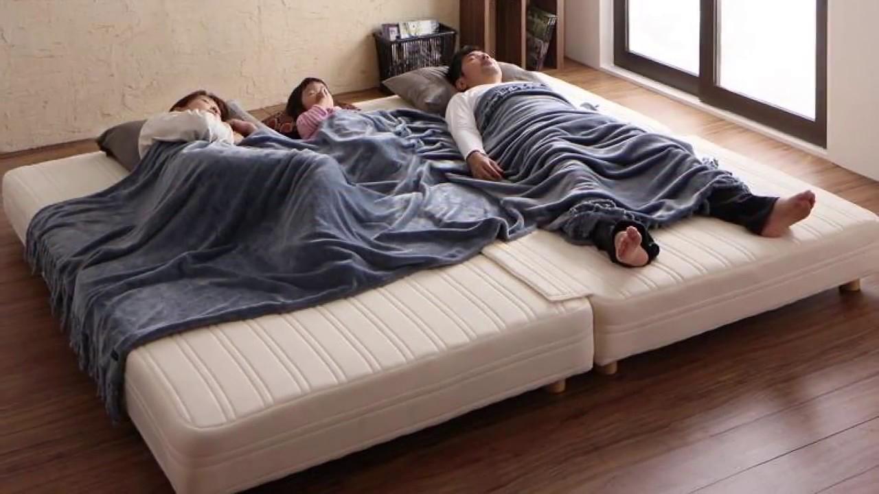 家族全員が寝れる理想の寝床 日本製ポケットコイルマットレスベッド