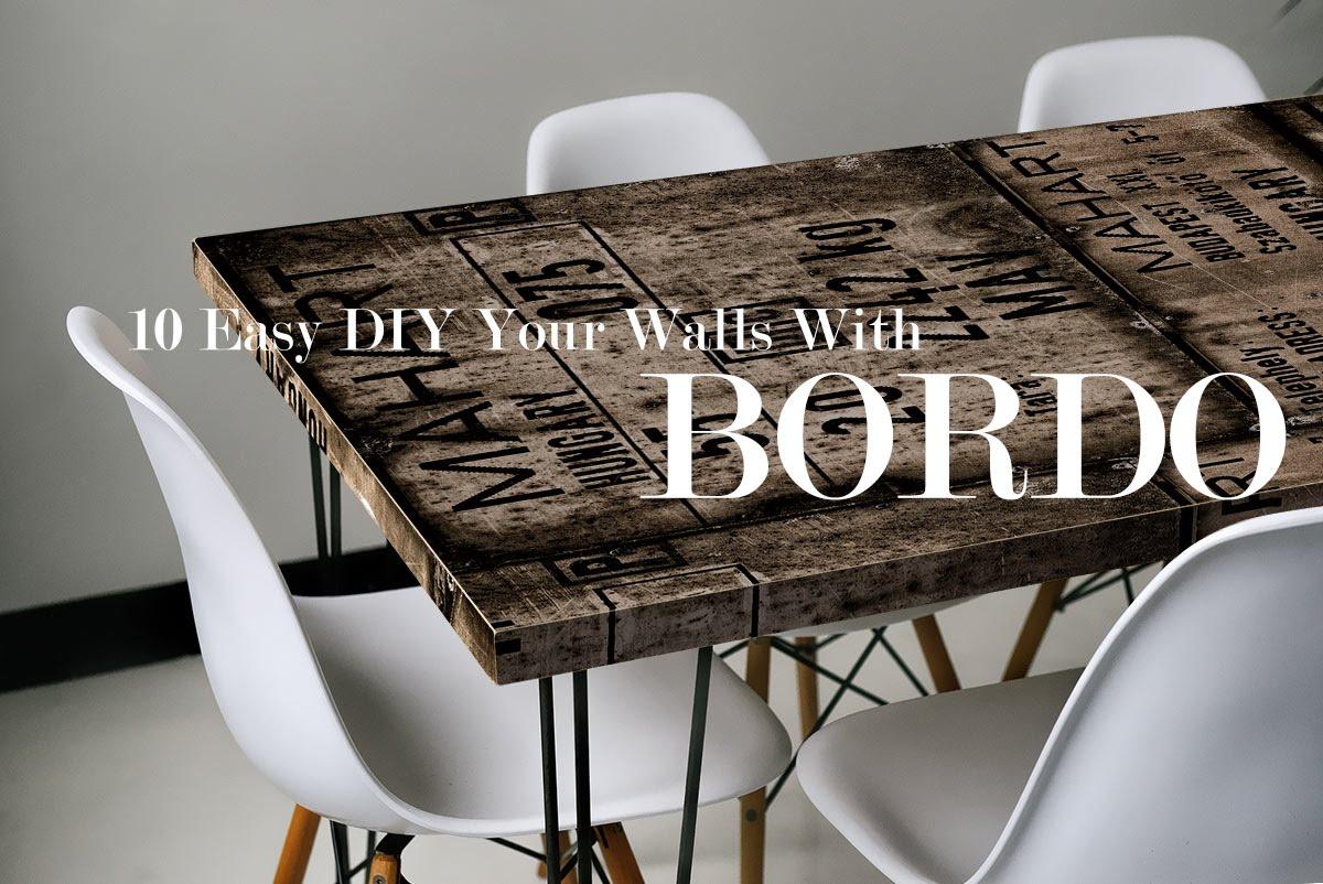 BORDO/ボルド:貼るだけで簡単!シール壁紙で家具をリメイク!