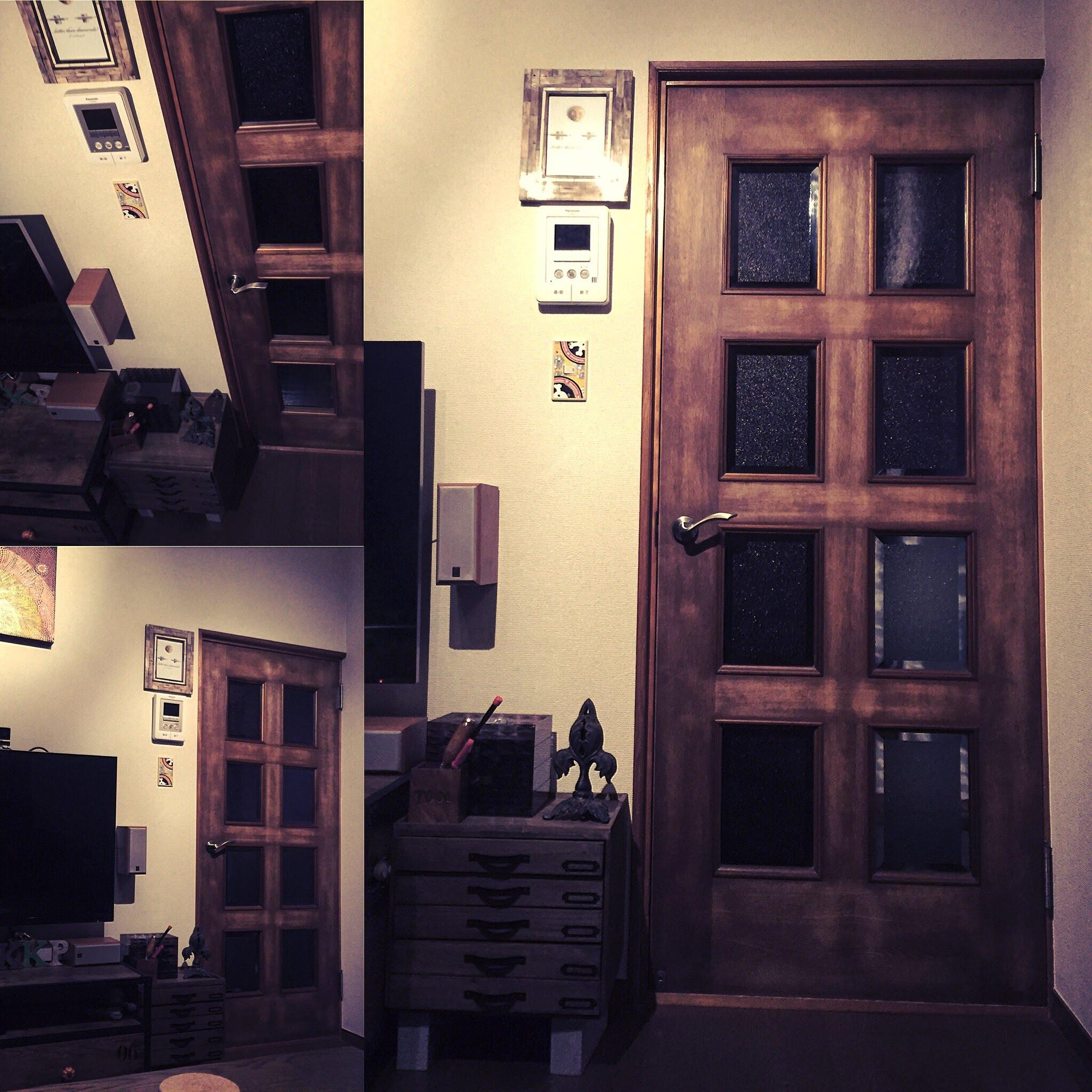 カワサキ次郎のDIY リビング扉をWATCOオイルでヴィンテージ風塗装