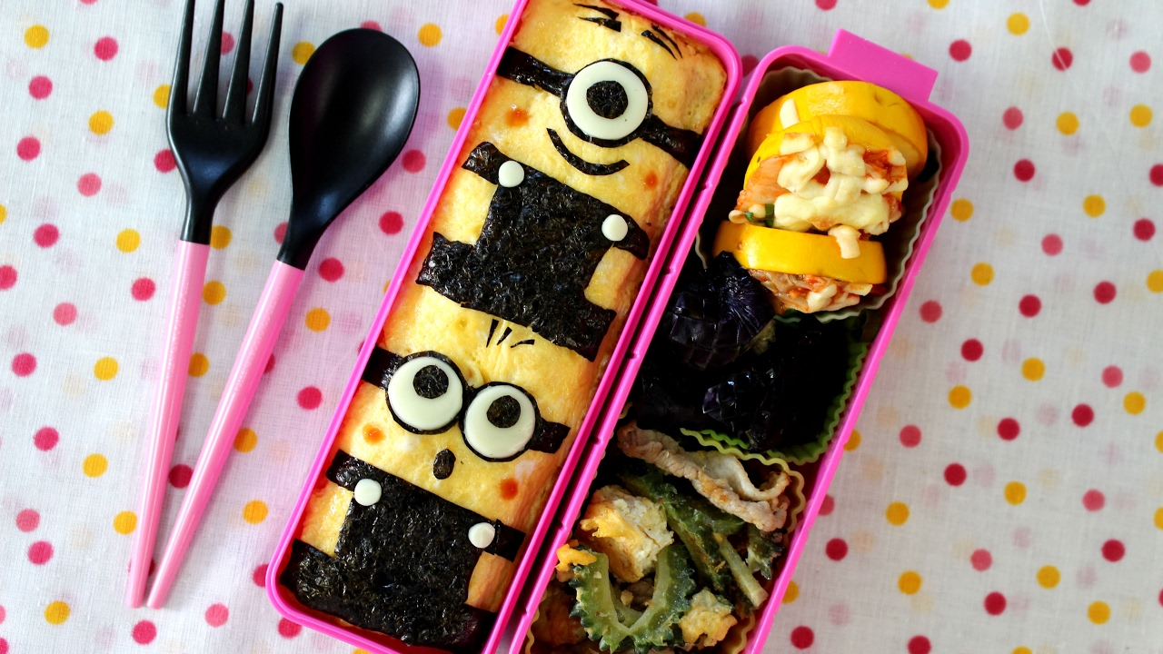 MINIONS Bento Lunch Box Kyaraben Recipe ミニオンズキャラ弁当レシピ