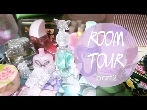 【お部屋紹介】(part 2)本棚・化粧台など 【Room Tour❤】(part 2) bookshelf & dressing table etc.