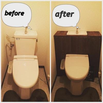 タンクレストイレを簡単DIY